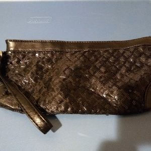 Black sequin wristlet
